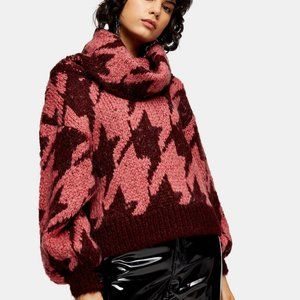 TOPSHOP houndstooth sweater **HOST PICK**